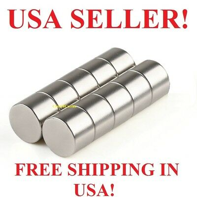 10 25 50 100 Pieces 14mm x 10mm Neodymium Round Disc RARE EARTH Magnets 15+ Lbs!