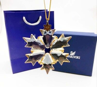 2018 Swarovski Crystal SCS GOLD-Champagne ANNUAL EDITION XLARGE ORNAMENT 5376665