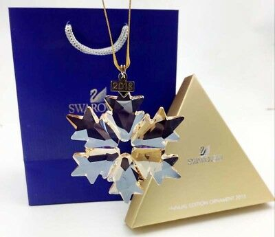 2018 Swarovski Crystal GOLD-Champagne ANNUAL EDITION LARGE ORNAMENT 5357982