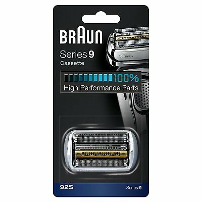 Braun 92S Series 9 Electric Shaver Replacement Foil Cassette Cartridge - Silver