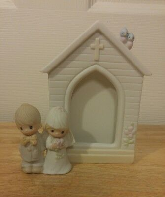 Precious Moments Wedding Picture Frame: The Lord Bless You and Keep You 1981