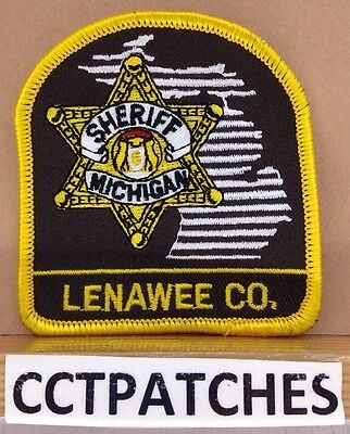 Lenawee County, Michigan Sheriff (Police) (Small) Shoulder Patch Mi