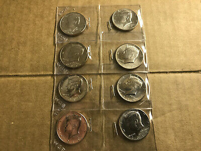 2016 2017 2018 2019 P&D Kennedy Half Dollar Uncirculated 8 Coins 50c
