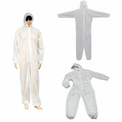 1pc M~XXXL Disposable Coverall Overall Suit Hood Non-woven Dust-proof Clothing