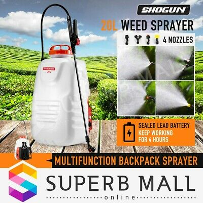 20L Backpack Weed Sprayer Garden Farm Electric Chemical Spot Spray Pump Tank