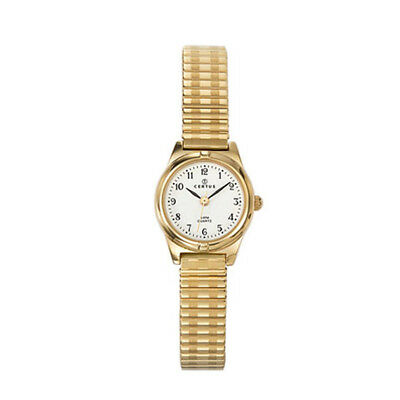 7830e21e361 Certus Paris Women s 630742 Gold Tone Brass Bracelet White Dial Watch