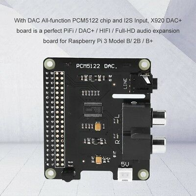 X920 HIFI DAC+ Audio PCM5122 24bit Expansion Board For Raspberry Pi 3 Model B/2B