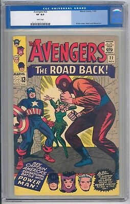 Avengers #22 CGC 8.0 VF WHITE Pages Cert.# 0107992001 OLD LABEL