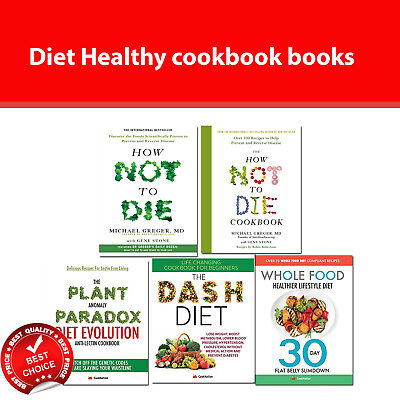 Healthy diet cookbook How Not To Die cookbook,Whole Food,Dash Diet books set NEW