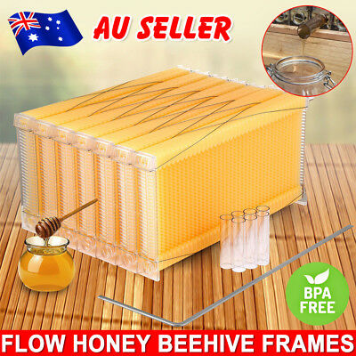 7PCS Upgraded Auto Flow Honey Beekeeping Beehive Bee Comb Hive Frames Tool