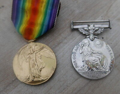 World War 1 Victory Medal and British Empire Meritorious Medal to Durham Light I