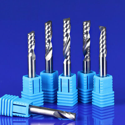 6mm Solid Tungsten Carbide Single Flute End Mill For Plastic Cutter Bits
