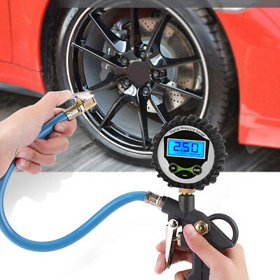 0-255PSI LCD Digital Tyre Tire Pressure Gauge Meter Air Inflator For Auto Car