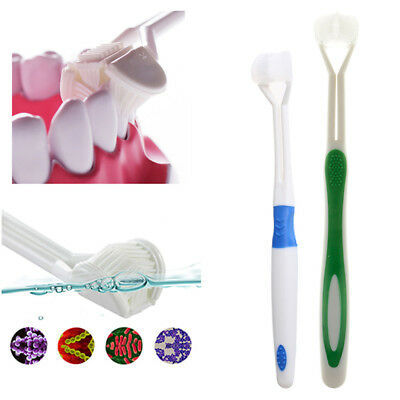 3-Sided Toothbrush Ultrafine Soft-Bristle Travel Autism Autistic Tooth Brush