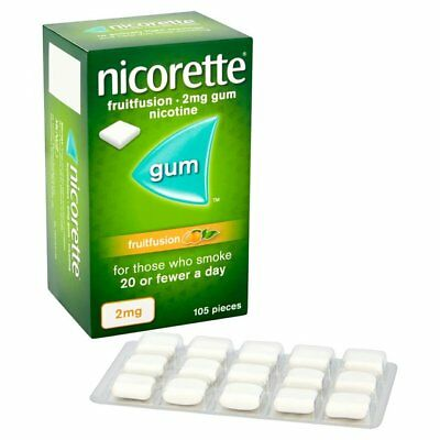 Nicorette FruitFusion 2mg Gum - 105 pieces  (Genuine)