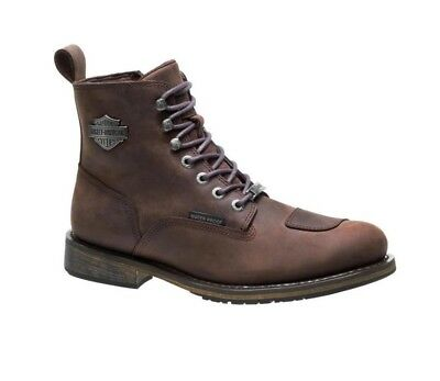 Harley-Davidson - Mens Clancy CE Approved Waterproof Motorcycle Boots Brown UK