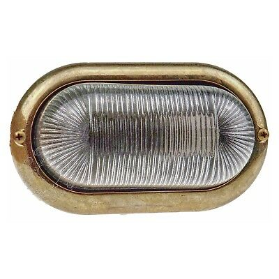 Decorus Brass bulkhead oval outdoor waterproof lamp light Nautical marine