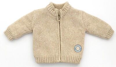 LIKE NEW baby boys GEORGE thick winter top size 3-6 months outerwear zip jumper