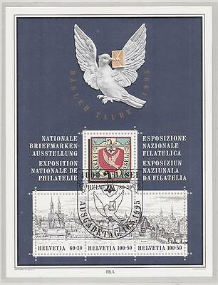Schweiz Block 27 ° Basler Taube 1995 Nationale Briefmarkenausstellung Basel