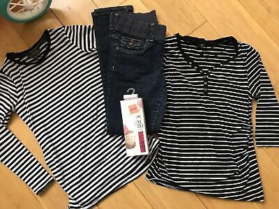 Maternity Size 10 Clothes Bundle - Jeans, Tops, Underwear