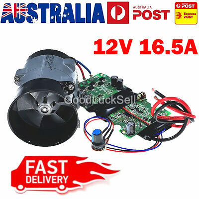 Universal 12V 16.5A Car Electric Turbo charger Boost Air Intake Fan Bold Lines A