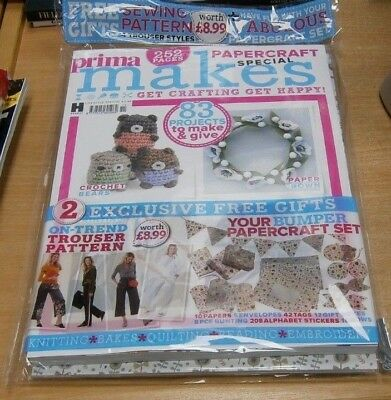 Prima Makes magazine #23 OCT 2018 Papercraft Special + Papers, Sewing Pattern &