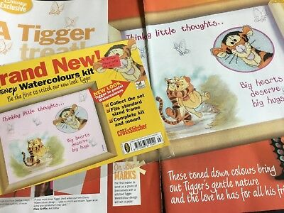 Disney Tigger Watercolours Cross Stitch Cover Kit With Illustrated Mount & Chart