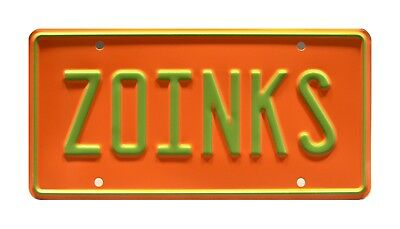 Scooby-Doo | The Mystery Machine | ZOINKS | Metal Stamped Vanity License Plate