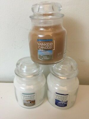 Yankee Candle Small, 3.7 oz Trio of Mixed Scents, Deerfield USA Labels