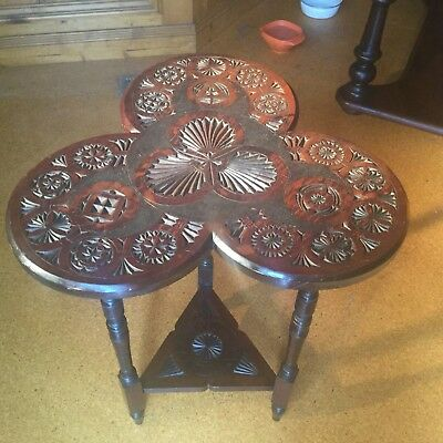 Beautiful & Unusual Carved Side / Lamp / Occasional Table!
