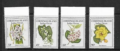 1986 Native Flowers Set of 4 With Top Margins  Stamps Complete MUH/MNH as Issued