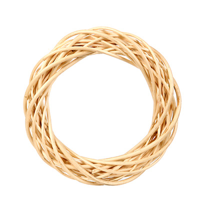Wicker Willow Wreath Ring - Natural x 30cm Scandi Christmas Hanging Decoration