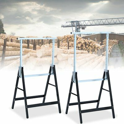2X Telescopic Trestle Saw Horse Foldable Work Bench Steel Workbench Support