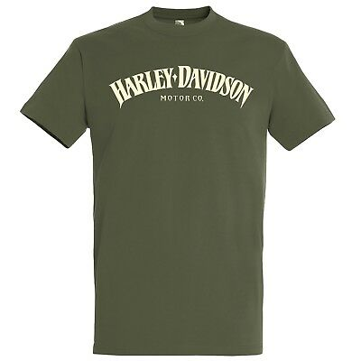 HARLEY-DAVIDSON Motorcycles HD | MOTOR CO. | T-Shirt | army | NEU | S M L XL XXL