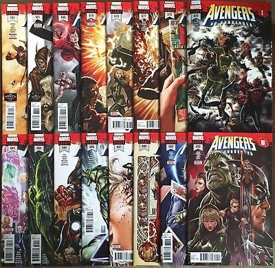 Avengers #675-690 No Surrender 1-16 Complete Run 675 Lenticular Cover 1St Prints