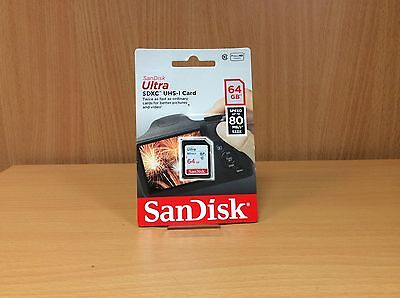 SanDisk Ultra 64GB Memory Card 80MB/s Class 10 BRAND NEW SEALED
