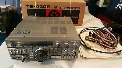 Used Kenwood TS-430S HF transceiver for HAM Radio with box manual more
