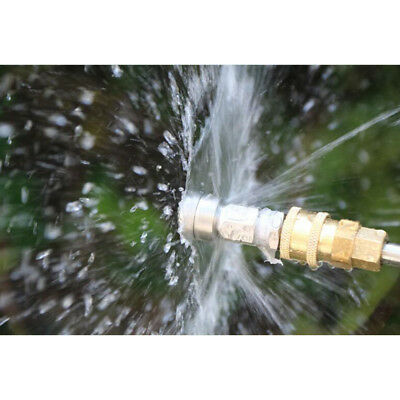 Pressure Washer Drain Sewer Cleaning Pipe Jetter Spray Nozzle 3 Jet 1/4''M