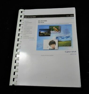 Sony Cybershot Dsc-Rx100 Mk2 Printed Instruction Manual User Guide 267 Pages A5