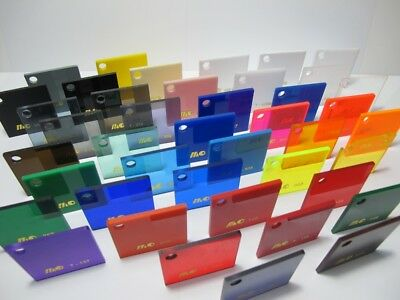 Acrylic A3 SIZE 3mm CAST Sheet UV Stabled Full Range Solid Coloured Gloss
