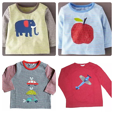 Ex Baby Boden Car Mouse Scooter Applique Logo Long Sleeve Top Age 3/6 Months
