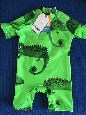 Next Baby Boy Swim Suit chameleon Uv Protection 6-9Months BNWT