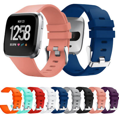 Replacement Silicone Watch Band Strap For Fitbit Versa Wristband Small Large