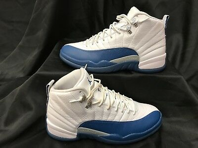 30150ab1b8f Nike Air Jordan 12 French Blue XII Retro White 130690-113 Sneakers Size 10.5