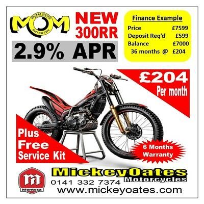 New 2018 Montesa 300RR £7599 + 2.9% APR Finance over 12, 24 or 36 months.