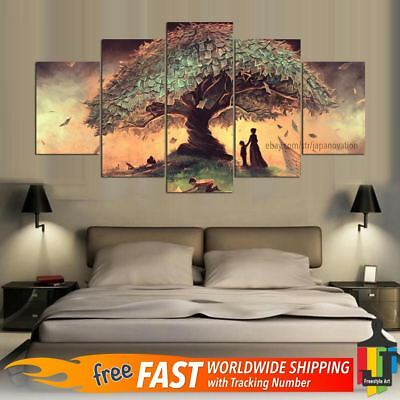 5 Piece Home Decor Canvas Print Wall Art Abstract Surreal Fantasy Fairytale Tree