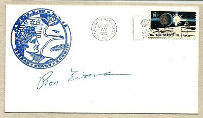 Ron Evans autographed Apollo 17 rubber stamped cover - NASA
