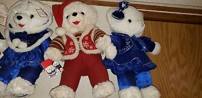 christmas stuffed teddy bears year 2007- 2017