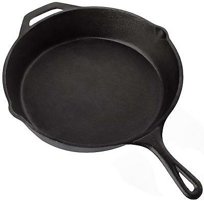 Frying Pan Pre Seasoned Cast Iron Skillet Kitchen Cookware Fry Pan 12.5 Inch New
