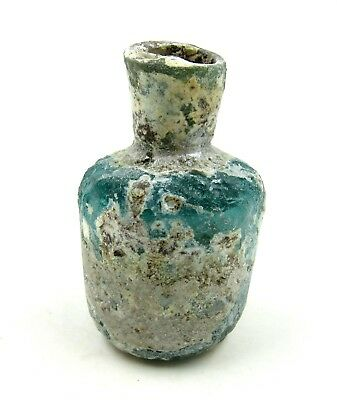 Authentic Ancient Roman Glass Perfume Flask - L523